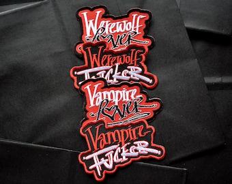 Vampire & Werewolf Patches