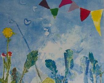 Garden Party: Fine Art Monotype Pring