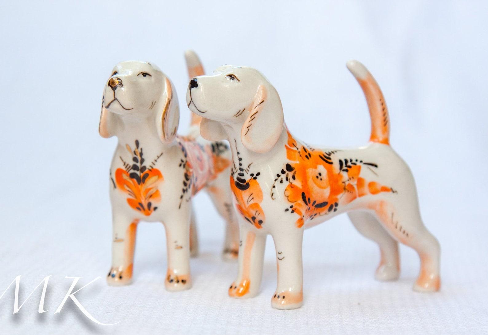 Beagle Porcelain Statuettes