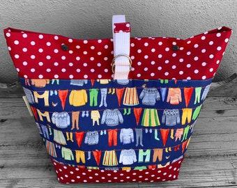 Extra Extra Large Knitting Bag - XXL Knitting Bag - Sweater Project Bag - XXL Crochet Bag - Project Bag