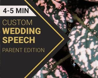 4-5 Minute Parent Wedding Speech   Custom-Written for You by a Professional Wedding Speech Writer