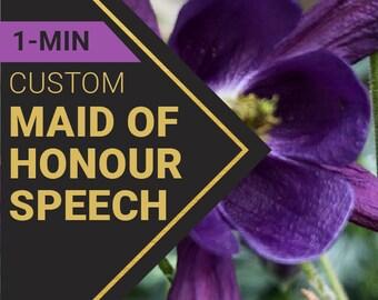 1 Minute Maid of Honor Speech