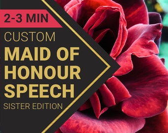Maid of Honor Speech for Sister's Wedding   Custom-Written for You by a Professional Wedding Speech Writer