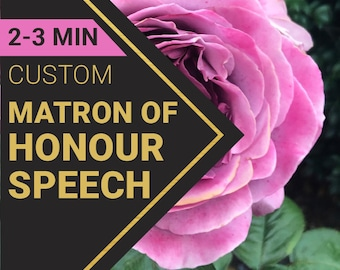Matron of Honor Wedding Speech Order   Custom-Written for You by a Professional Wedding Speech Writer