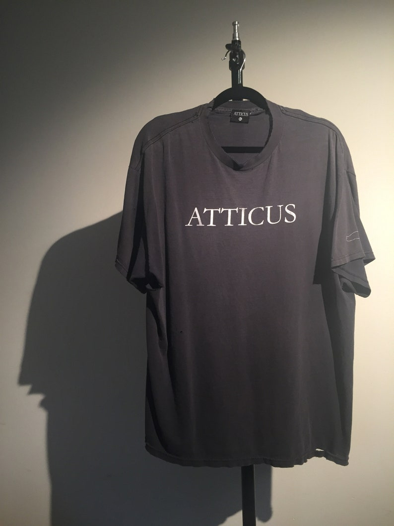 bcad66a3 Vintage Distressed ATTICUS Tee in Black Size XL | Etsy