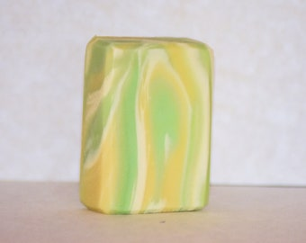 Lemongrass Swirl Handmade Soap