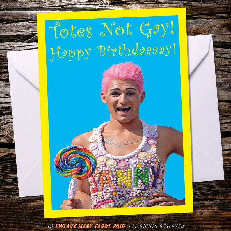 Gay Birthday Card Funny Rude Sarcastic