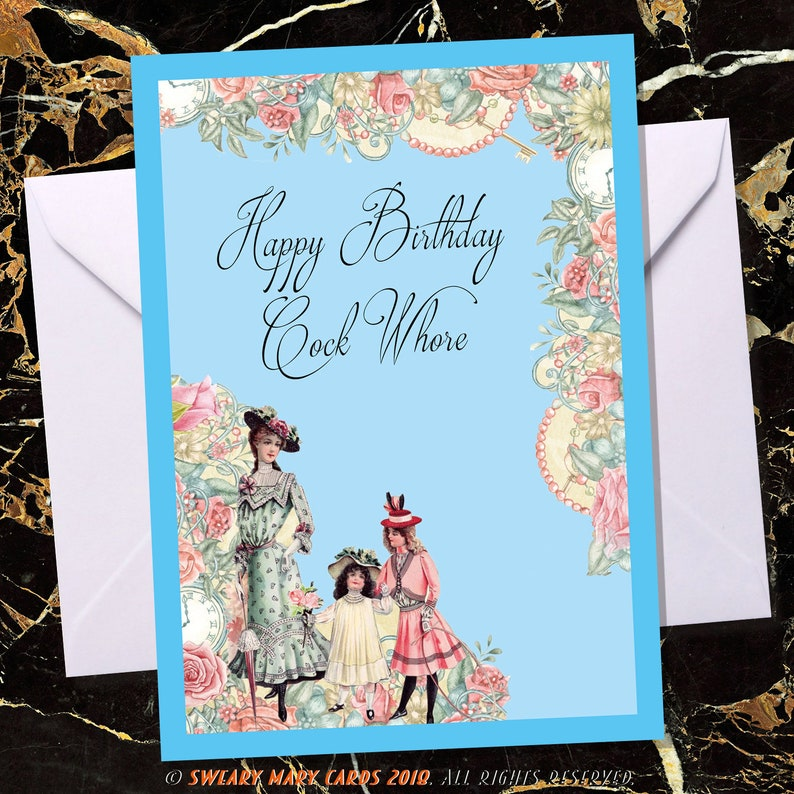 Rude Birthday Card Cheeky Offensive