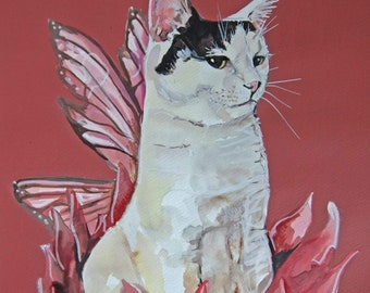 Bespoke Cat portrait with accessory