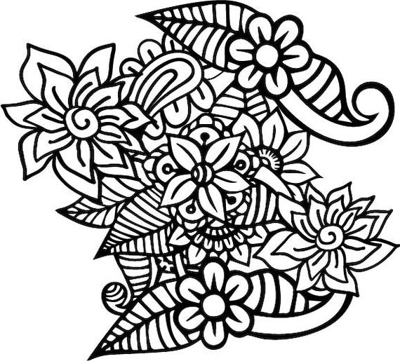 Flowers Zentangle Svg File For Cricut Mandala Flower Cut