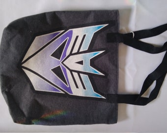 Transformer tshirt tote bag