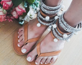 98785e66942ae0 Greek sandals sparkle gladiator wedding sandals bridal sandals crystals  sandals pearls sandals leather sandals boho sandals strappy women