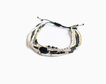 Energy Onyx Bracelet: Black and White