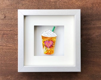 Frappe Quilled Art, Home Decor, Wall Art, For Her, For Him, Love Her, Love Him, Paper Art, Paper Anniversary