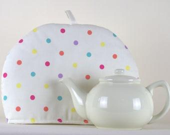 Large Tea Cosy Cozy. Brand New Made in England. Clarke & Clarke Spots Design Fabric