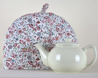 Large Tea Cosy Cozy. Brand New Made in England Carnation Flower Design Fabric