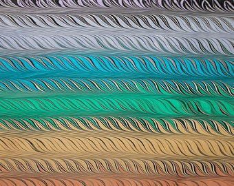 Marbling paper Art Rainbow Role marbled