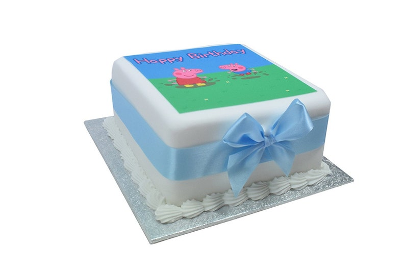 Peppa Pig George Delicious Birthday Cake 5 X Or 7