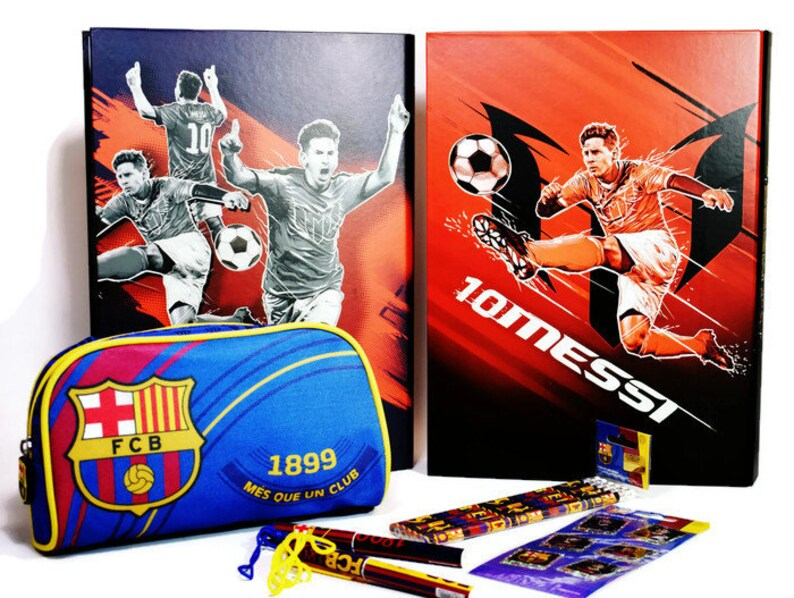 Fc Barcelona Stickers.Fc Barcelona School Supply Set Binders Pencil Case Stickers Pencils All In One