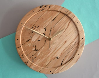 Hand Turned Spalted Beech Clock