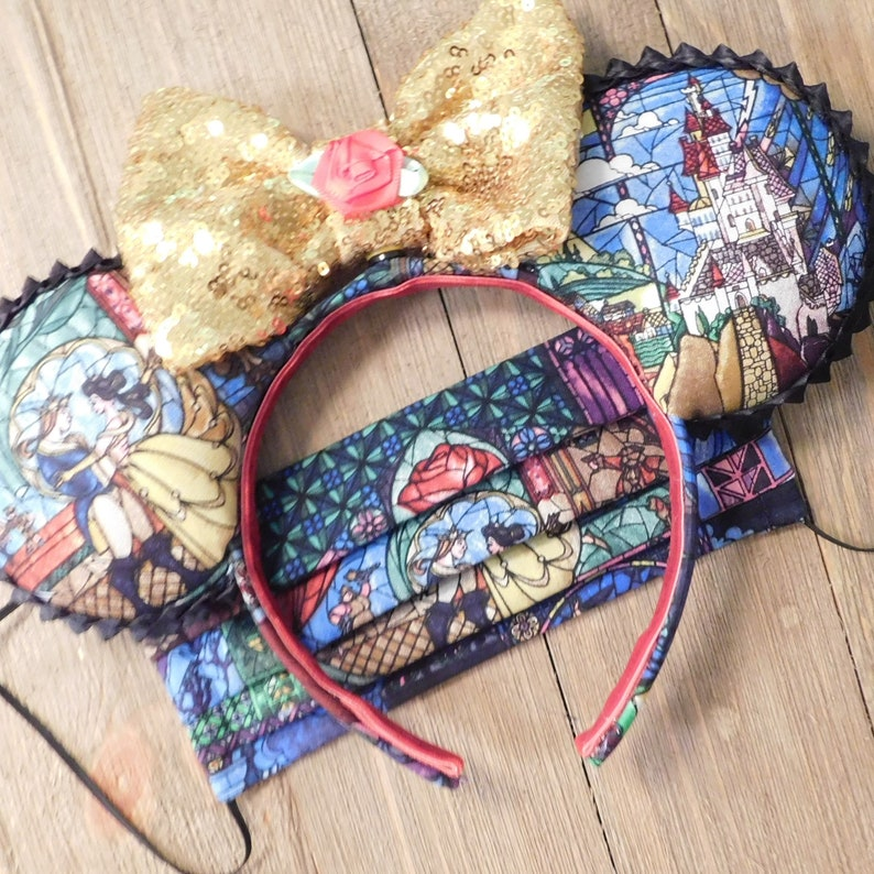 Classic Ears with Matching Fabric Pleated Mask with Filter Pocket.