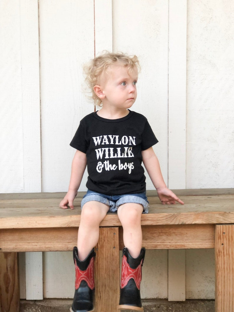 Waylon Jennings Tshirt Willie Nelson Tshirt | Stay at Home Mum