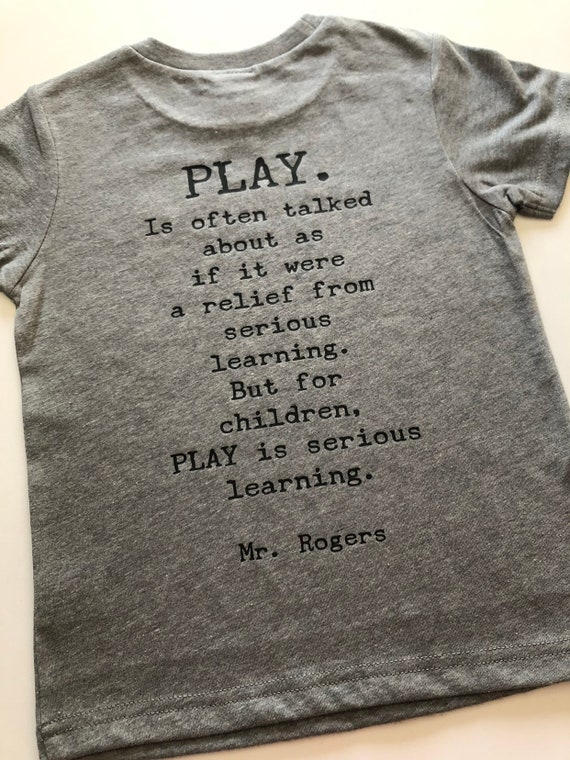 Mr Rogers Play Quote Etsy