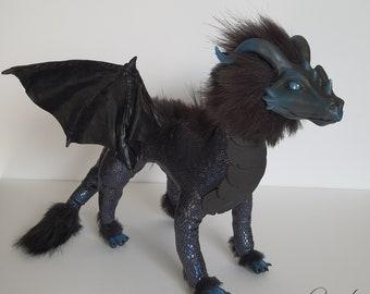 Artdoll: Black Dragon with Black Eyes