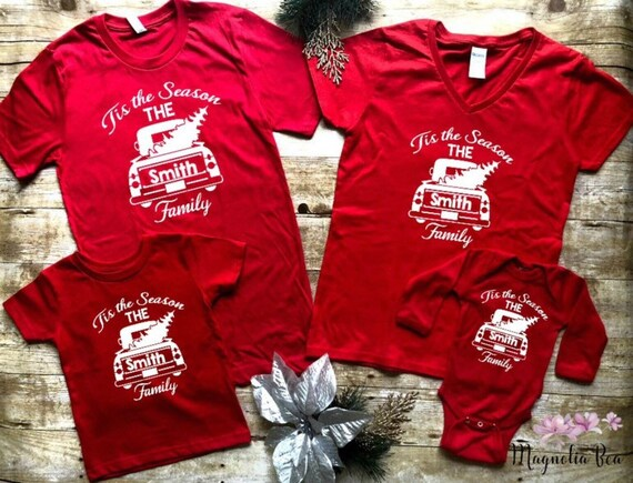 Matching Family Christmas Outfits.Matching Family Christmas Shirts Personalized Truck Family Matching Christmas Outfits Christmas Shirts For Family Family Name Shirts
