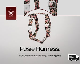 iDoggos Rosie Dog Harness | Designer Collection | High Quality Pet Accessory | Handmade in Canada