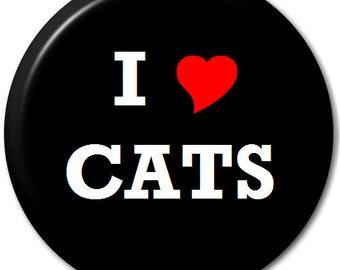 I Love Cats (Heart) - Pin Button Badge
