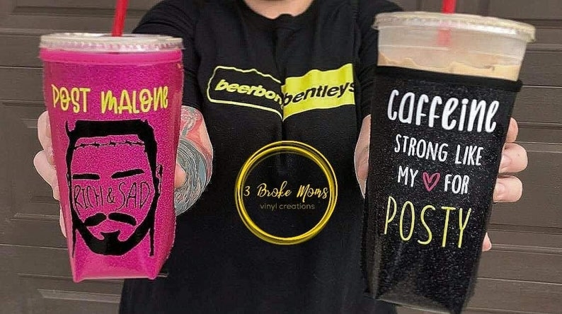 Iced Coffee Koozie  Large Post Malone image 0