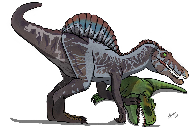 Jurassic Park 3: Spinosaurus Fan Art | Etsy