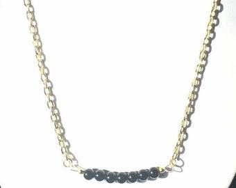 Black Jasper Bar Styled Necklace