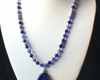 Blue Lapis lazuli Pendant Necklace