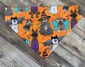 Halloween Dog Costumes Over the Collar Dog Bandana. Fall Dog Bandana. Autumn dog. dog dress up. personalized bandana. custom dog costume.