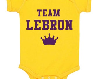 Los Angeles Lakers Lebron James Baby Onesie® 362c540ad8