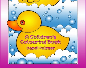 A Children's Colouring Book in US Letter Format, 62 different pages to print out