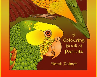 A Colouring Book of Parrots in US Letter Format, 42 original pictures to print out