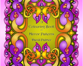 A Colouring Book of Mirror Patterns, 62 original pictures to download and print out in US Letter Format
