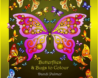 Butterflies and Bugs to Colour in US Letter Format. 42 different pages to print out.