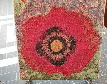 Corn Poppy Embroidery Design