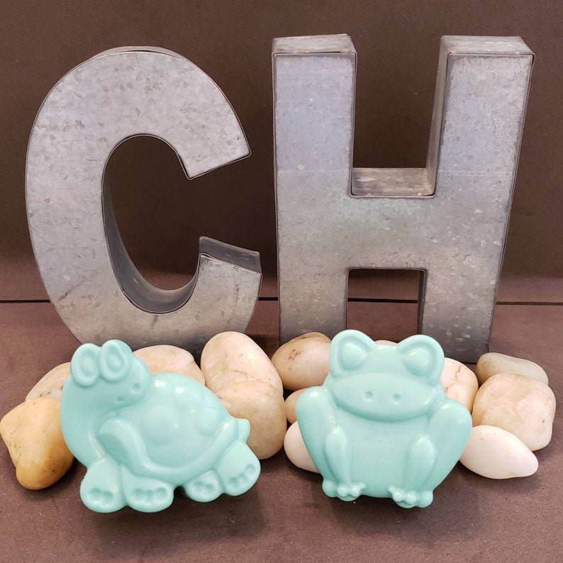 Soap Bar Turtle and Frog Set of 2 Eczema Relief Christmas Gift image 0
