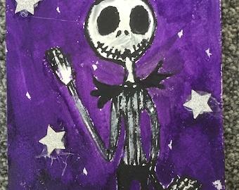 Jack skeleton painting