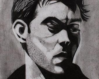 Jude Law graphite portrait