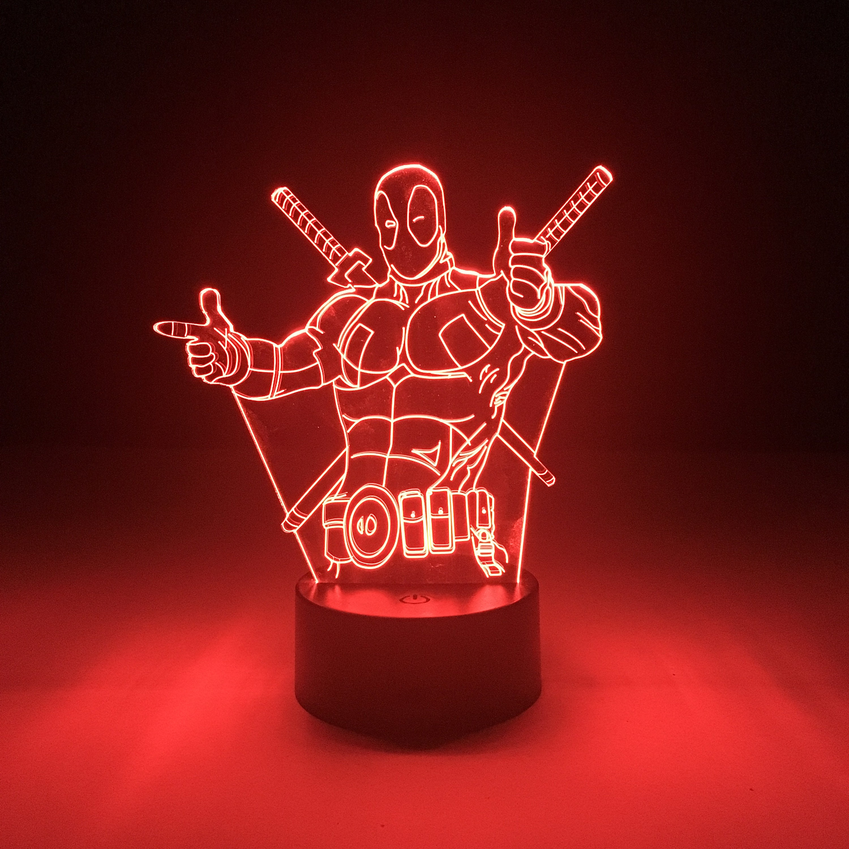 Deadpool LED Lampe Marvel Licht Tisch Lampe Geschenke Home