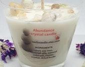 Abundance candle Citrine Healing crystals candle Reiki healing