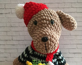 Dog Children's toys Soft toys The first toy Favorite toy Amigurumi Goods for children Gifts for children Plush miracle  Children