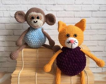 Cat A monkey Children's toys Soft toys The first toy Favorite toy Soft toy Goods for children Gifts for children Plush miracle  Children
