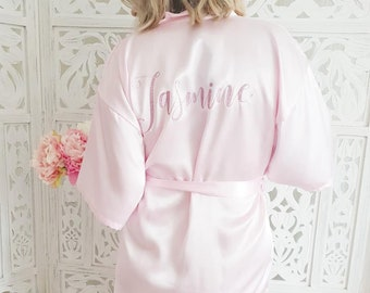 Personalised Wedding Robe Bride Robe Bridesmaid Gift Wedding dressing gown  Bridesmaid robe Bachelorette Bride Dressing gown Wedding morning b7fd7f03b